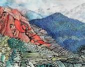 "Garden of the Gods 1, Colorado. Ceramic Tile, 8"" x 10"".  Free shipping in U.S."