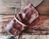 Handmade in the USA - Leather Pipe Pouch -- The Standard - Rusticated - 1-2 pipes.