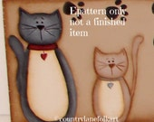 EPATTERN, hand painted sign, Cats sign, paint your own, digital download. painting pattern,