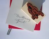 Wedding Stamp - Monogram - Calligraphy Stamp - Custom Rubber Stamp - Return Address Stamp