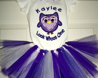 Purple Owl Look  Whoos Birthday Suit