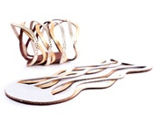 NEW! Iskin Curves Duo Bracelet - Leather - Contemporary Jewelry - Cuff - Ideal for a Wedding