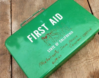 1960s First Aid Kit State of California 1969 Alcohol and Drug Abuse Central Office