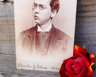 Victorian cabinet card of dashing young man resembling Christopher Mintz Plasse Red Mist