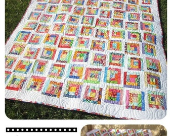 Extra Credit--Scrappy Mini Log Cabin Quilt Pattern
