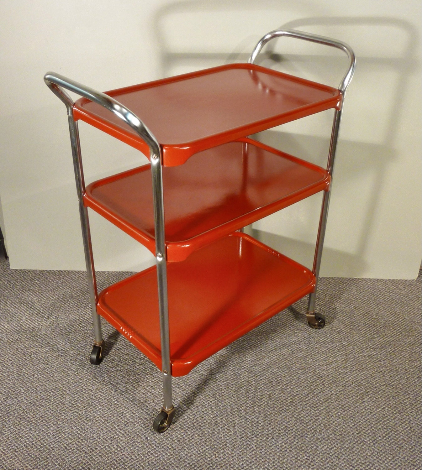 Upcycle Metal Kitchen Cart Vintage Rolling Kitchen Cart