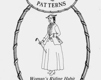 MF15 - Mill Farm #15, 1740-1780 Woman's Riding Habit Jacket and Waistcoat Sewing Pattern