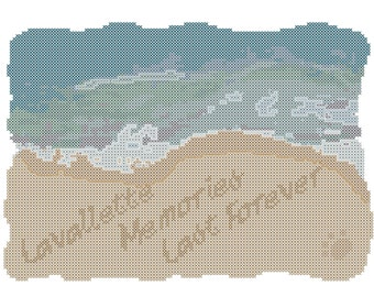 Beach Cross Stitch Pattern/Beach Love Cross Stitch Pattern/Modern Beach Cross Stitch/Modern Cross Stitch/Cross Stitch Pattern/Digital File