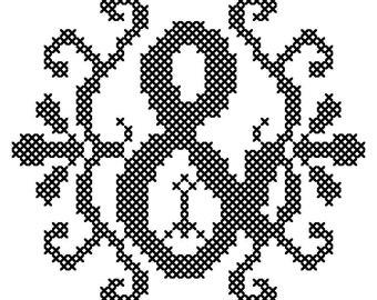 Ampersand Cross Stitch/ Modern Cross Stitch Letter/Modern Cross Stitch Initial/ Cross Stitch Pattern/ Counted Cross Stitch/Digital Download