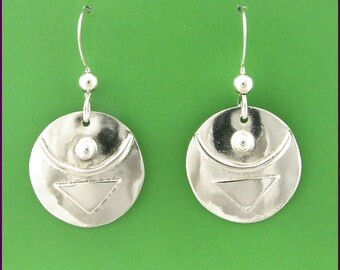 """Empowered Sterling Silver """"Today I Can"""" earrings"""