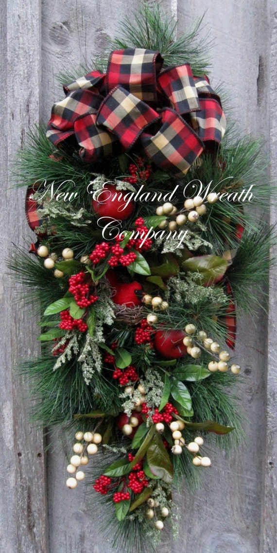 Christmas wreath holiday wreath christmas swag by for Christmas swags and garlands to make
