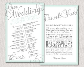 Ombre Border Wedding Program