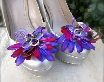Shoe Clips Purple Spring