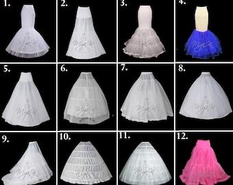 Plus Size Bridal Prom petticoat custom order only