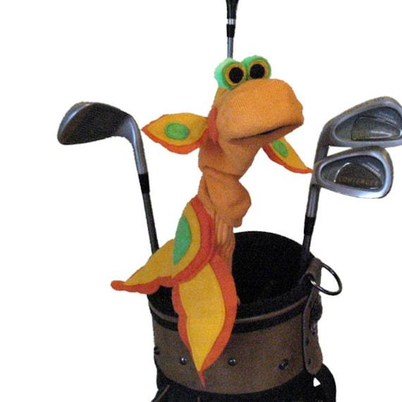 Handmade Gold Fish Golf Club Cover