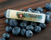 BLUEBERRY LEMON Natural Lip Balm with Organic Blueberry .15 oz Berry Harvest Fruit