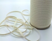 "Twill Tape - Natural Twill Ribbon Tape 1/8"" wide - (10 yards) - Lightweight cotton twill tape 3mm width vintage cream"