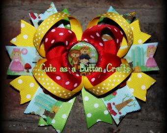 Adorable Wizard of Oz Dorothy inspired Boutique hair bow