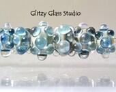 Lampwork beads Crystal Gemstone Bead Set by DeMarie SRA