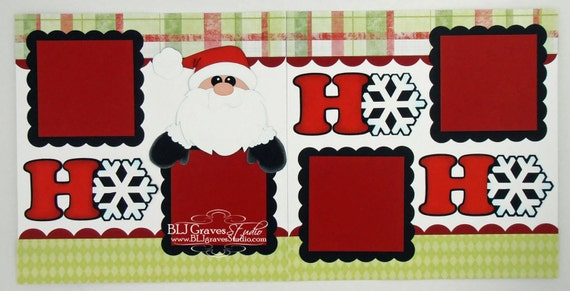 2 premade scrapbook pages 12x12 layout paper piecing christmas for Christmas layout ideas