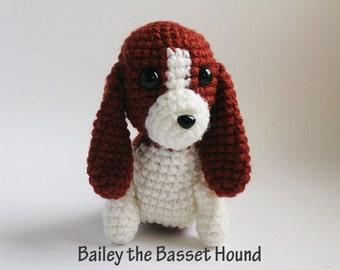 Bailey the Basset Hound  : Amigurumi Pattern in PDF format