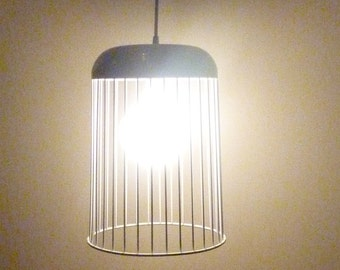 SALE!  White Wire Hanging Pendant Light