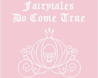 Fairytales Do Come True Wall Art Cross Stitch Pattern