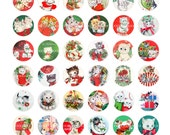 Digital Clipart, instant download, Vintage Christmas bottle cap cat cats kittens kitty cat--Digital Collage Sheet (8.5 by 11 inches) 1433