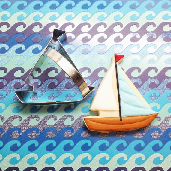 Sailboat Beach Party Favor Sugar Cookie Cutter