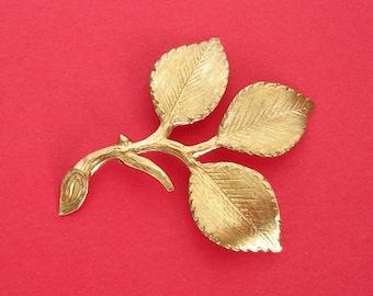 2-Large Branch  Leaf Embellishment  Raw  Brass  Stamping Pendant .