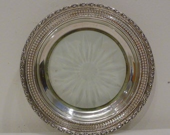 Sterling and Crystal Trivet