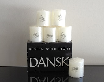 Dansk Design With Light White Box Votives Candles Style 01845