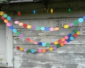 Birthday Garland / 10ft Circle Garland / Birthday Party Decorations / Kids Birthday / Rainbow Decorations / Photo Prop / Party Decor
