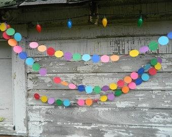 Birthday Garland / Balloon Garland / Birthday Party Decorations / Kids Birthday / Rainbow Decorations / Photo Prop / Party Decor