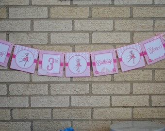 NEW DESIGN - Angelina Ballerina Word Banner