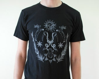 Celestial Alchemy Screen Print Punk Black T-Shirt