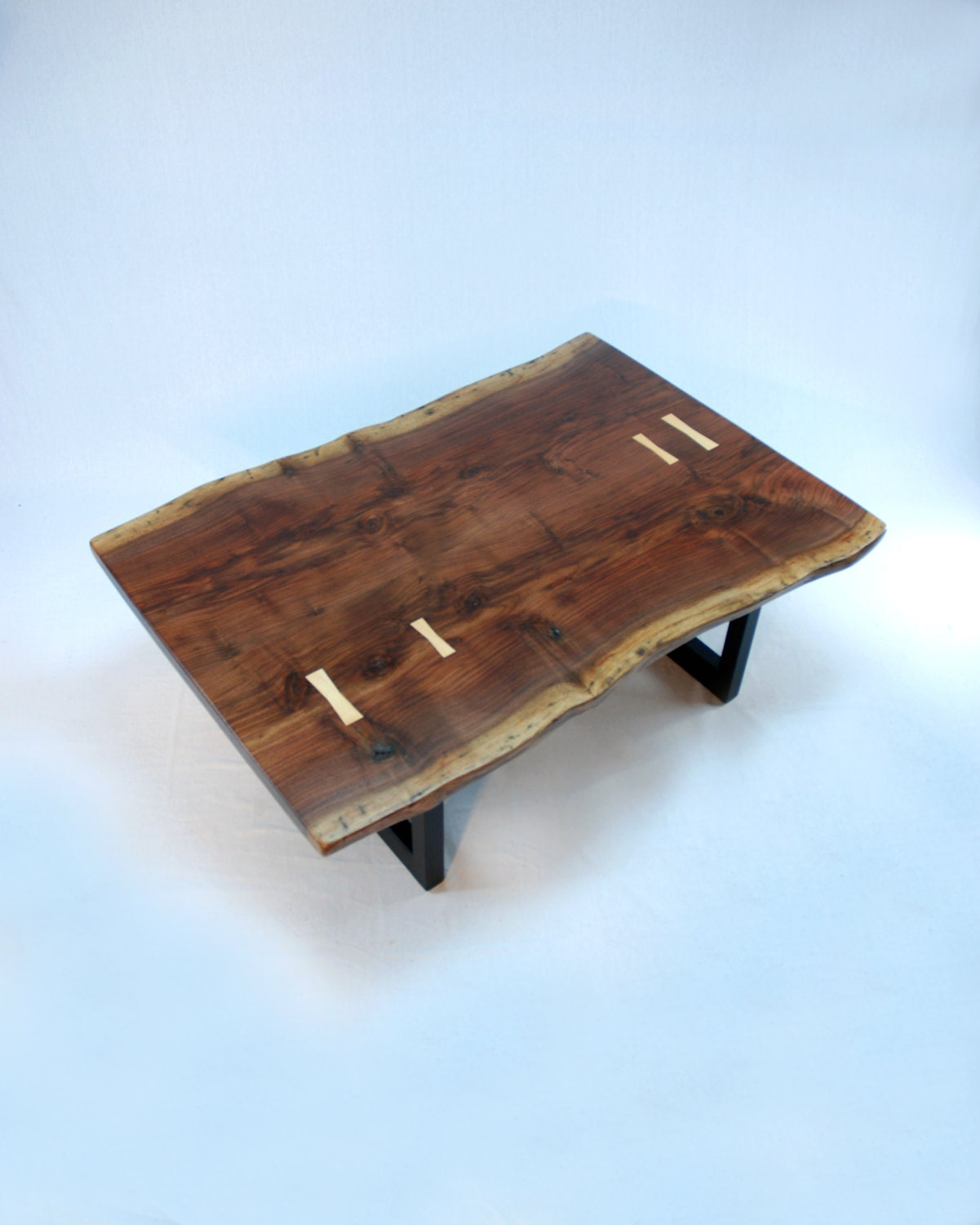 Aurora Minimalist Coffee Table Walnut Slab With Maple