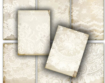 Romantic wedding Tags instant download printable gift tags, labels , vintage shabby chick , lace // tattered  //  digital Collage Sheet 195