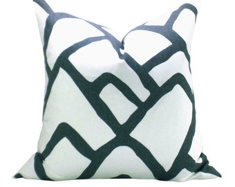 Zimba pillow cover in Charcoal