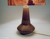 Brown Søholm Denmark 926 lamp base with mid century modern relief pattern