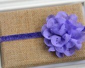 Purple Eyelet Headband - Baby Headband - Toddler Headband - Girls Purple Glitter Headband