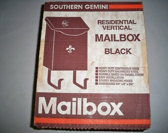 Vintage Metal Mailbox in Original Box