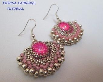 Pierina Earrings Tutorial - PDF Pattern - Beaded Earrings Tutorial - Instant Download
