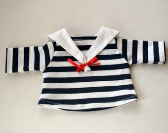 Blue Striped sailor blouse for little creatures