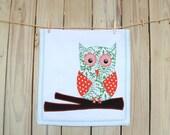 Owl DishTowel, Christmas tea towel, Owl Towel