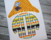 Scarecrow Hat Monogram Topper Applique Design Machine Embroidery INSTANT DOWNLOAD