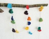 Crochet hearts garland rainbow banner rainbow garland