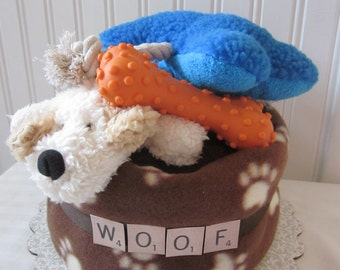 Dog Towel Gift Cake-New Dog Gift-New Puppy Gift