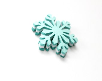 Large Snowflake Die Cuts - Frozen Birthday Party - Mint Teal White Snowflake Cutouts - Winter Table Decor