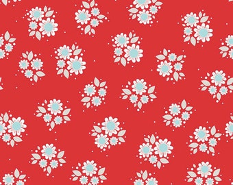 04373  - Riley Blake Twice as Nice collection Cotton C3524 in red   fabric- 1 yard
